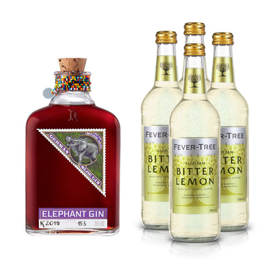 Elephant Sloe Gin 500ml & Fever-Tree Bitter Lemon