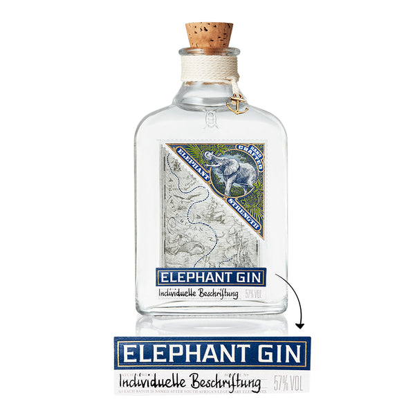 Personalisierte Elephant Strength Gin Flasche