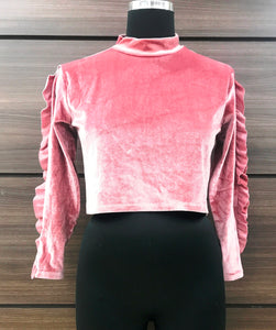 Velvet Highneck Top