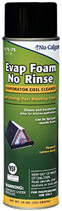 Evap Foam No Rinse, 18 Oz. Aersol Can
