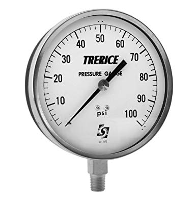 "3.5"" dry gauge 0-100 PSI - Tristate Filter & HVAC Supplies, Inc."