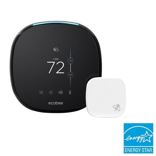 Ecobee4 Voice Enabled Smart Wi-Fi Thermostat w/ Room Sensor - Tristate Filter & HVAC Supplies, Inc.