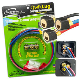 QWIKLUG: 3 TERMINAL REPAIR  LUGS W/O WIRE - Tristate Filter & HVAC Supplies, Inc.