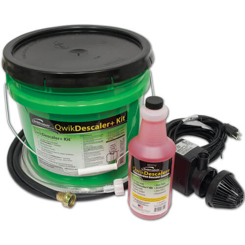 QWIKDESCLAER+: DESCALER SOLUTION, BUCKET, PUMP, 2 HOSES - Tristate Filter & HVAC Supplies, Inc.