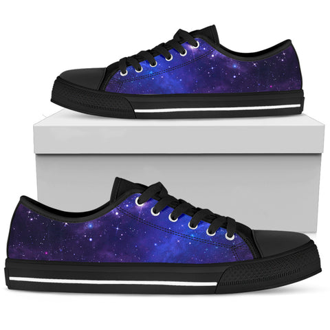 Women's Sneakers- Deep Purple Galaxy
