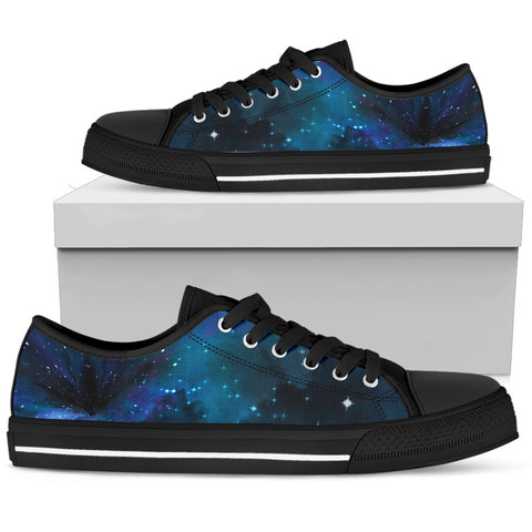 Women's Sneakers - Deep Blue Wormhole