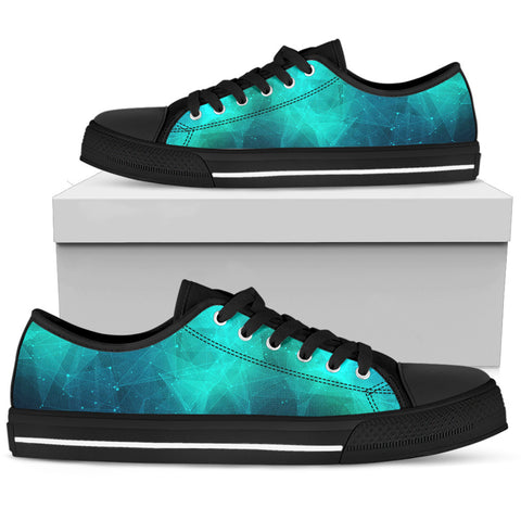 Women's Sneakers - Green Star Chart