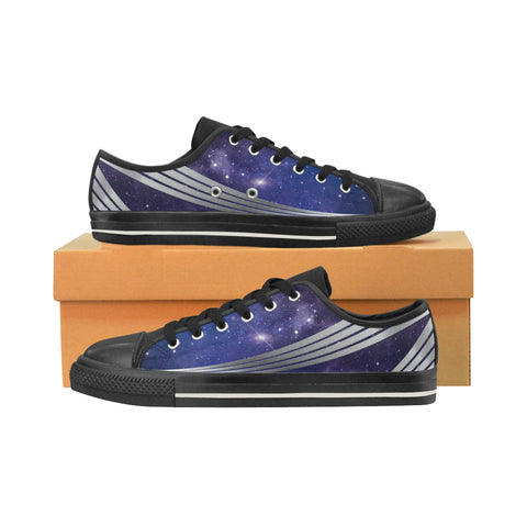 Men's Star Ship Uniform Sneakers - Purple Silver
