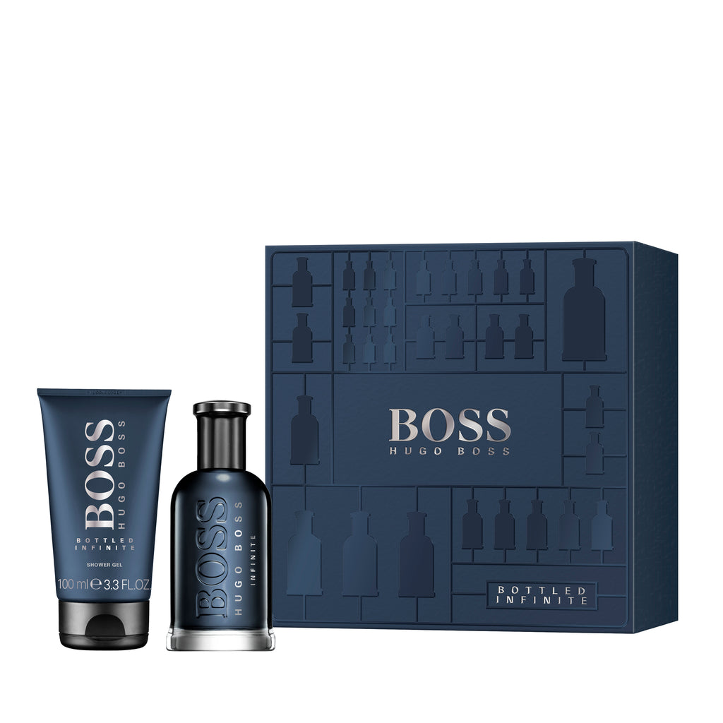 BOSS BOTTLED fragrance gift set, the perfect gift for any man.  Set includes: - Eau de Parfum Spray 100ml - Shower Gel 100ml