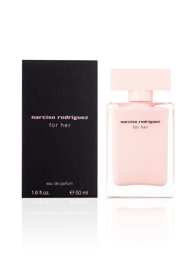 Discover a sophistication that captures the essence of femininity and embodies true dignified grace. Experience a powerful sensuality that softens… a luxury that lingers… an intimacy that is intoxicating.  for her eau de parfum by narciso rodriguez: the simply seductive scent that envelops the body and excites the senses.