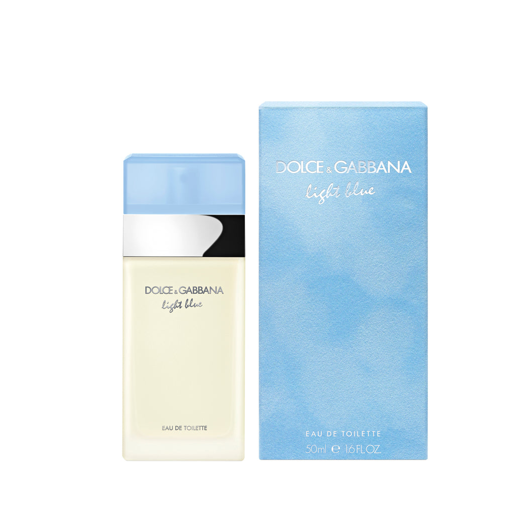 Light Blue: the quintessence of the joy of life and seduction by Dolce&Gabbana.  All the essence of a sunny summer day is enclosed in this lively, fresh, floral and fruity fragrance that evokes the sensuality of the Mediterranean woman.