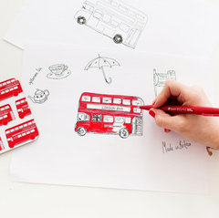 London bus illustration by Victoria Eggs