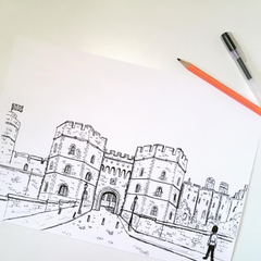 Drawing of Windsor Castle