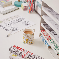 Victoria Eggs illustrations and desk space