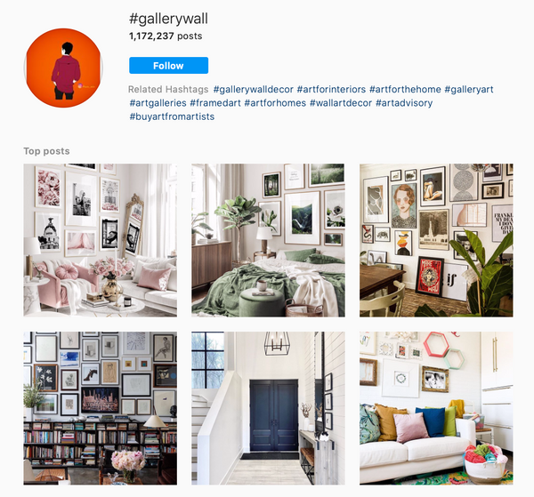 Gallery wall instagram