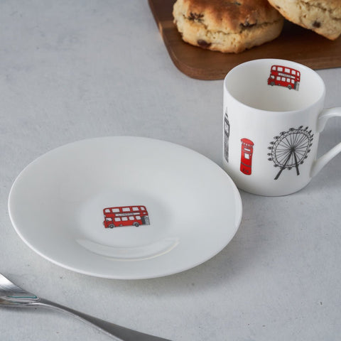 London Skyline Espresso Cup and Saucer