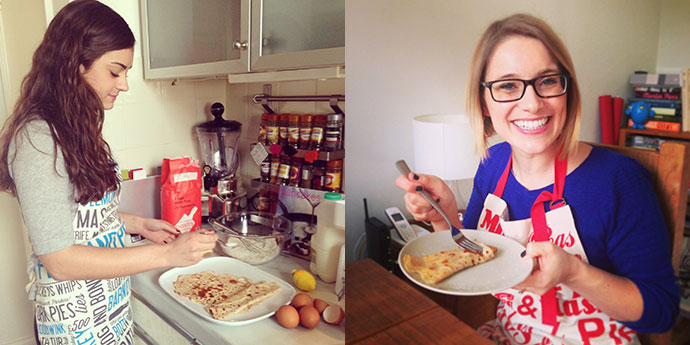 Making-pancakes-in-Victoria-Eggs-Aprons