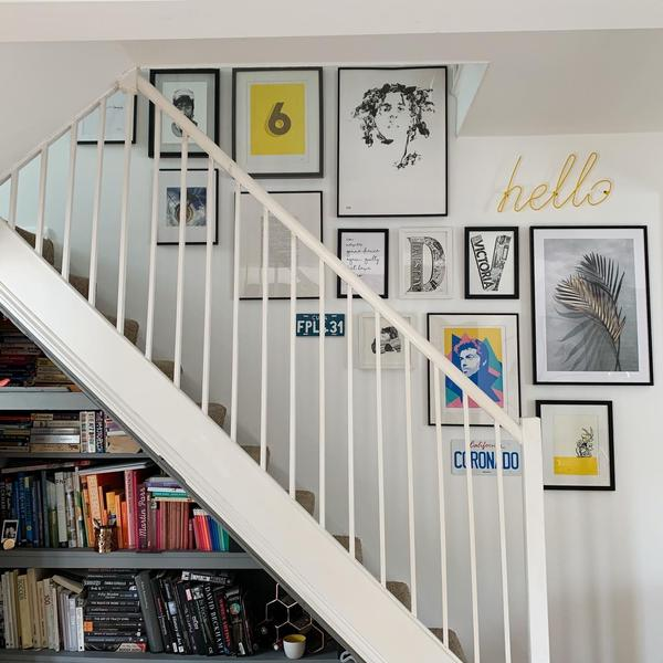 Stair gallery wall art