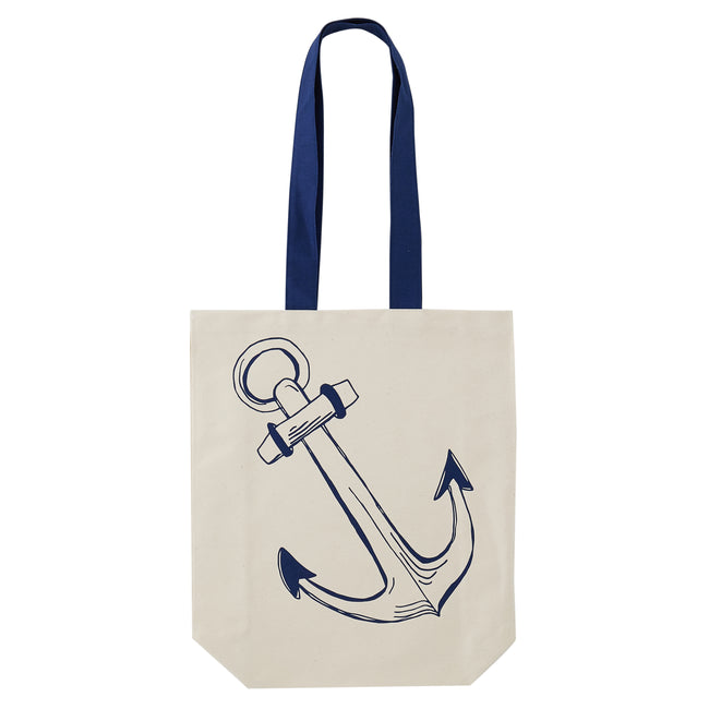 Anchor and Sailing Boat Canvas Bag