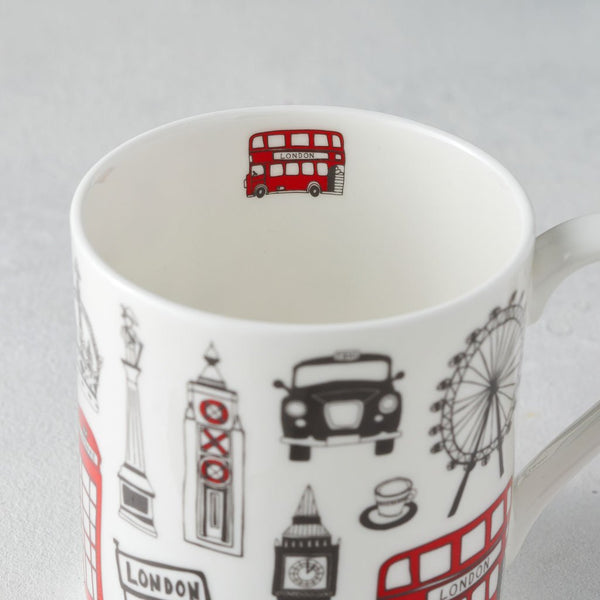 Three Fine Bone China London Mugs GIFT SET