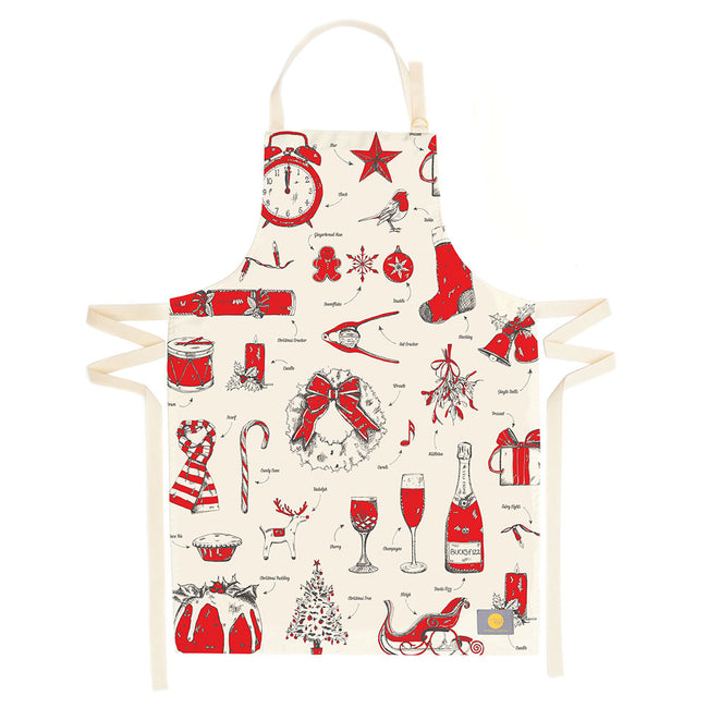 Christmas Delights Apron, Made in Britain, Victoria Eggs