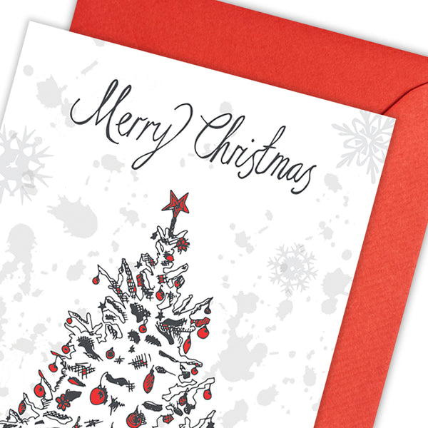 Christmas Tree Greeting Card - Pack of 5