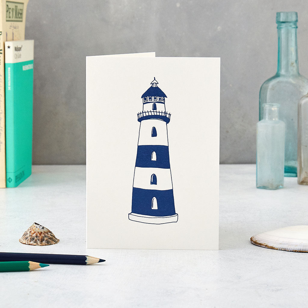 Lighthouse greeting card victoria eggs lighthouse greeting card kristyandbryce Choice Image