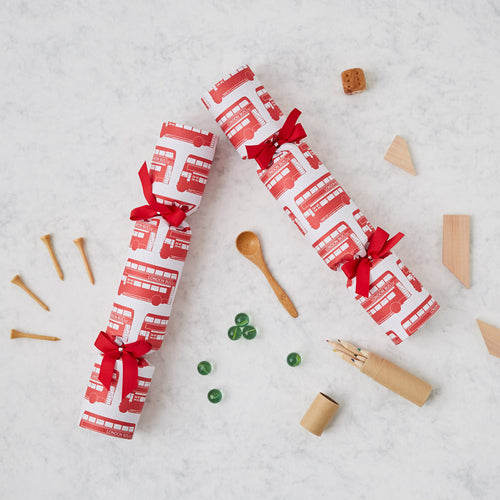 London Bus Christmas Crackers Box of 6