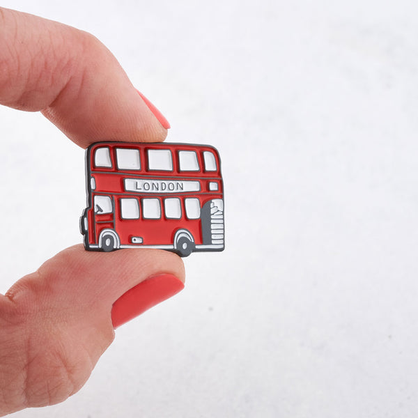 London Bus Enamel Pin Badge