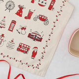 London Christmas Tea Towel