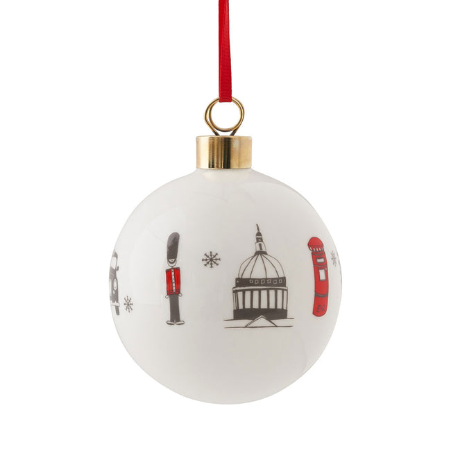 London Skyline Fine Bone China Bauble