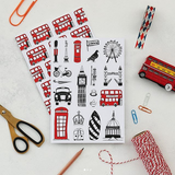 London notebook gift set, Iconic London landmarks notebook set, Children's London notebooks, London journal set, London bus notebook
