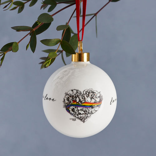 PRE-ORDER - Love is Love Bauble Ornament