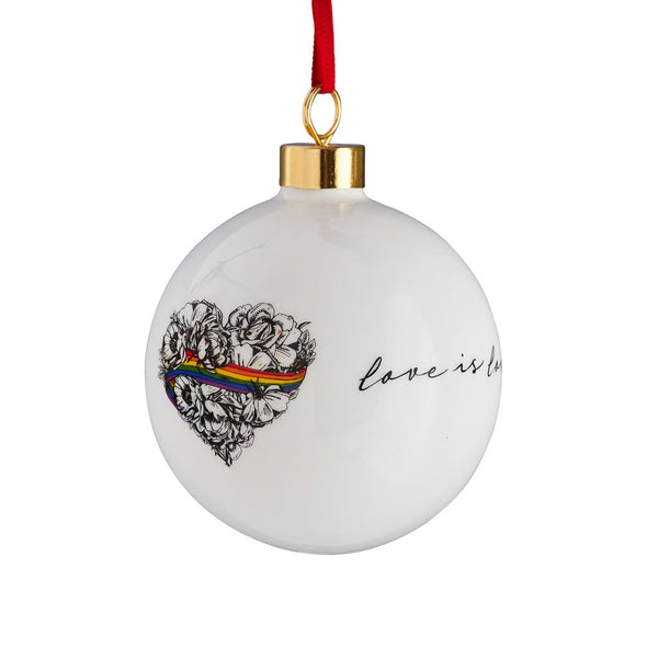 Love is Love Bauble Ornament