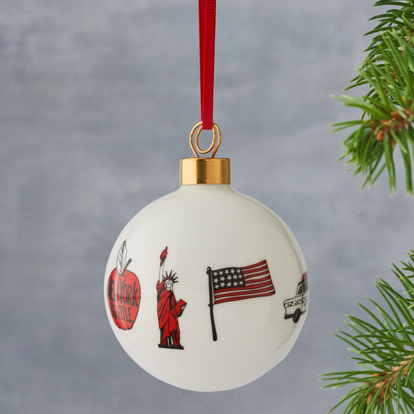New York, New York Fine Bone China Bauble