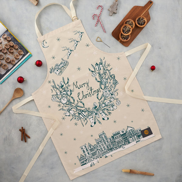 Night Before Christmas Apron and Pot Grab / Pot Holder Gift Set