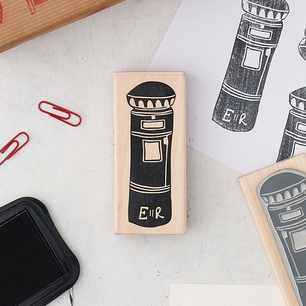Large London postbox rubber stamp, London rubber stamp, Postbox London stamp for stationary, Postbox rubber stamp for scrapbooking, Iconic London stamp