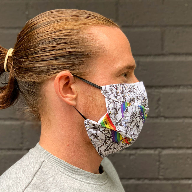 Roses and Rainbows Fabric Face Masks - PRE ORDER