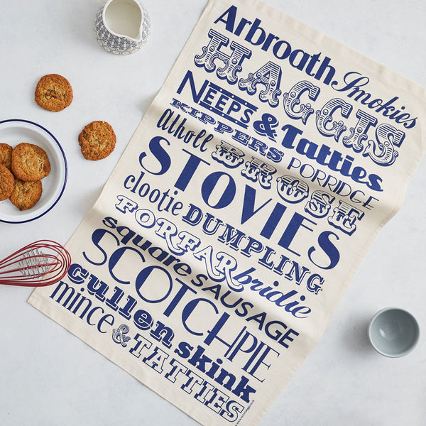Scottish Dinner Tea Towel