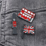 Set of three London pins, Iconic London pin set, Children's London pin set, small London pin set, Children's iconic London pins, London enamel pin badges, set of three London pin badges