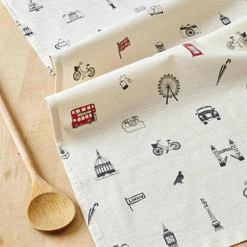 Simply London Mug & Tea Towel GIFT SET + Free London Flags Card