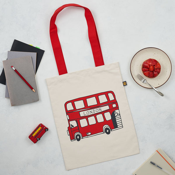 Telephone Box and London Bus Canvas Bag