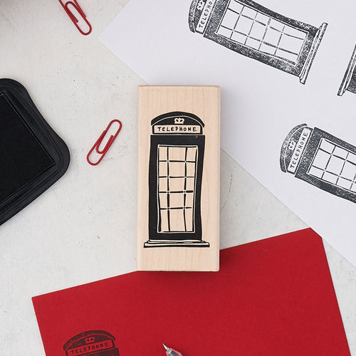 Telephone Box Stamp - Large