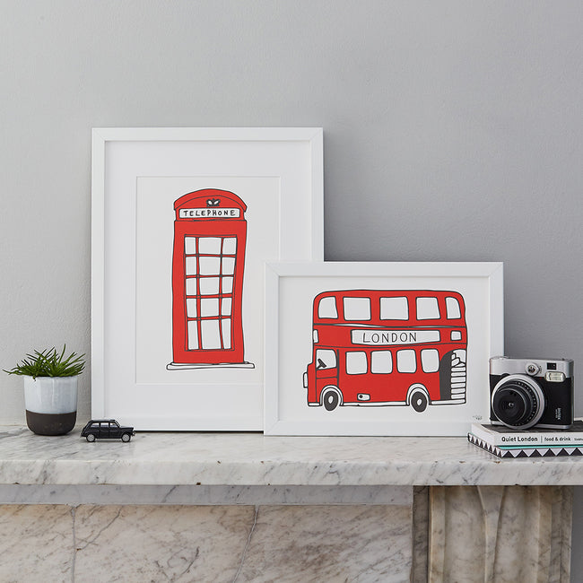 Simply London Bus A4 Print