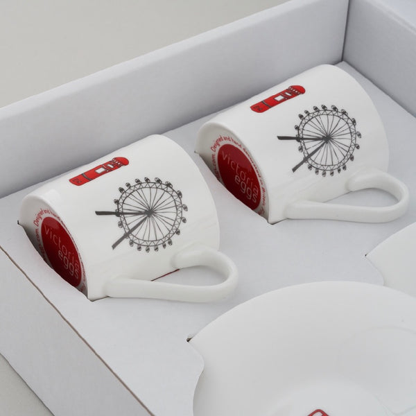 London Skyline - Boxed Set of 2 Espresso Cups and Saucers GIFT SET