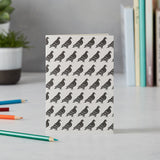 Greeting card with repeating pigeon design, Black and white pigeon greeting card, London Pigeon stationary, Iconic London greeting card, Hand illustrated London greeting card