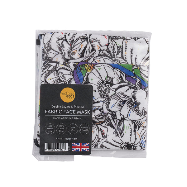 Roses and Rainbows Fabric Face Masks