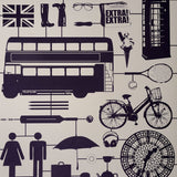 Airfix London Wallpaper Taupe