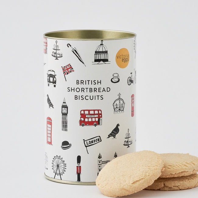 GIFT SET of English Breakfast Tea and British Shortbread Biscuits