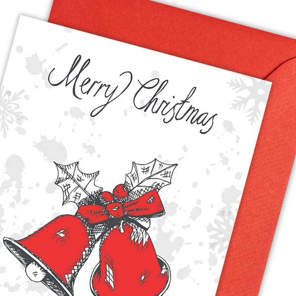 Christmas Bells Greeting Card - Pack of 5